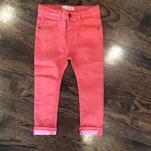 NWT! Zara toddler boy red jeans. Size 2/3